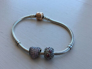 Pandora bracelet (small - 18 cm) from the rose collection