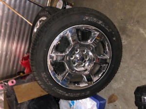 2014 F150 tires and rims R20 for sale