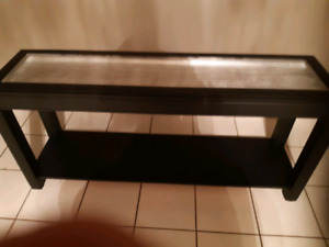 Nice black and silver console table.
