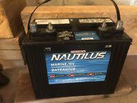 Marine/RV deep cycle battery