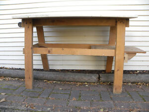 wood late stand or small work bench