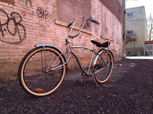 Classic Chrome California lowrider with Bent Fork