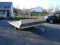 Triton aluminum snowmobile trailer