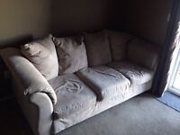 Light Beige couch. $60 can deliver in grande prairie