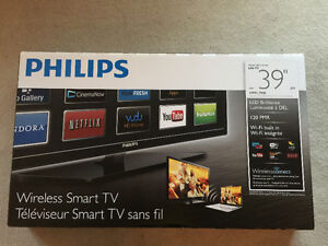 "Like new, in box!! 39"" Philips Smart TV 1080p"
