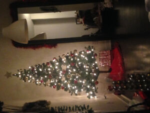 Christmas tree and decorations - moving sale