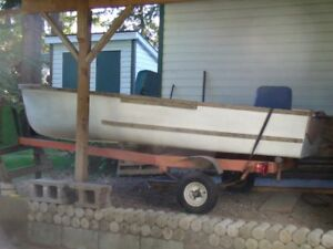 Boat and 10HP motor and trailer