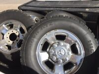 "Ram 2500/3500 17"" 8 lug Rims and Tires (8x6.5)"