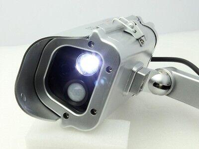 Solar Powered Fake Dummy CCTV Security Camera W/ Human Sensor Flashing LED Light