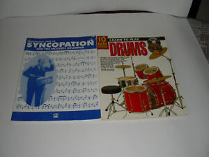 Drums books with CD & DVD
