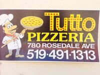 Tutto pizzeria is looking a pizza delivery