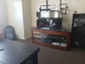 """Tv stand and mount for sale fits up to 48"""" tv"""