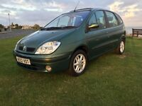 Renault megane scenic 1.6 16v LONG MOT STAMPED SERVICE HISTORY RUNS AND DRIVES BEAUTIFULLY