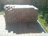 370 sq feet of interlock bricks and patio stones