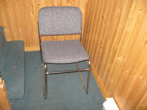 3 Metal Office Chairs