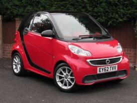2012 Smart ForTwo 1.0 PASSION MHD 71BHP, RED, SAT NAV, PETROL, FACELIFT