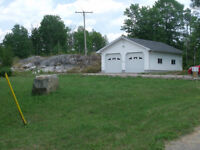 2 acres lot with access to the French River