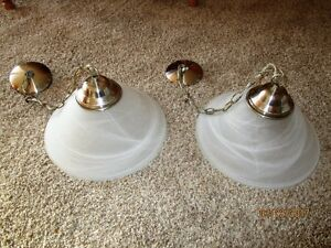 Brushed Nickel Ceiling Lights / Chandelier $10 for the PAIR