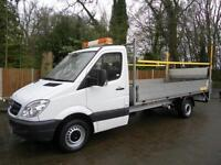 2013 62 REG Mercedes-Benz Sprinter 316 CDi Blueefficiency Dropside Tail Lift LWB
