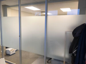 Glass wall / partition with locking door - double opening