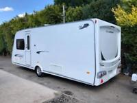 2012 Lunar Clubman SI 4 Berth Caravan FIXED ISLAND BED, AWNING, VGC Bargain !