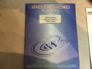 Collectors-Montreal Press Notes/Habs $10.00