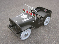 vintage Jeep Pedal Car made by Thistle