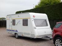 Burstner 400 caravan 4 berth fixed bed
