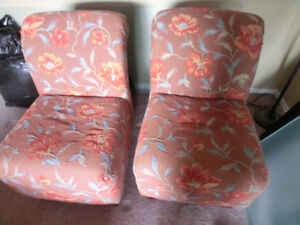 Beautiful Brown Floral Accent Chairs $80.00 each /$150.00 for bo