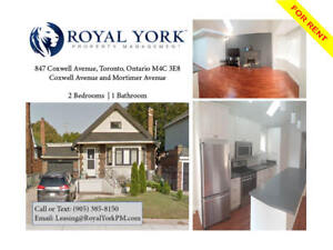 2 BED/1 BATH- UPGRADED HOME FOR RENT @ EAST YORK CC|MICHAEL G HO
