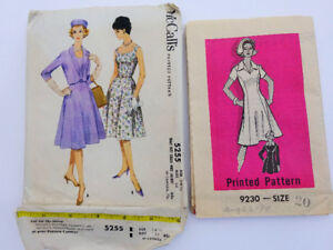 Dress patterns, 2 packages never used
