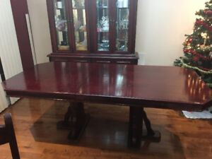 Dining Table and Storage Cabinet