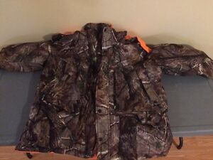 Camo/orange winter coat