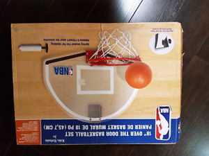 "Brand new in box, 18"" over the door basketball game set"