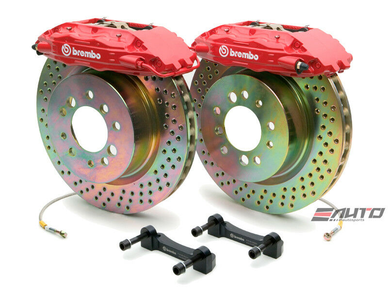 Brembo Front Gt Brake Bbk 4piston Red 332x32 Drill Bmw E28 E34 E24 E32 E31