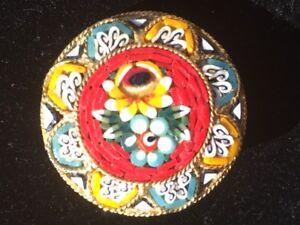 Italian Mosaic Brooch