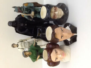 Star Wars 1996 Applause Figural Mugs ( 4 ) & Figures ( 4 )