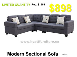 Brand new Elegant Fabric Sectional sofa only $898