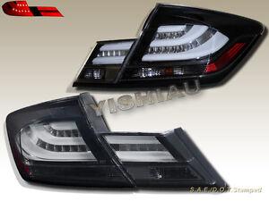 2013 2014 2015 Honda Civic 4Door Sedan Black LED Tail Lights