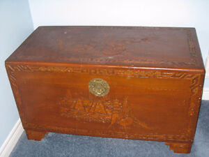 "Antique Camphor Wood Asian Chest 41"" x 21"" x 23"" Kitchener / Waterloo Kitchener Area image 1"