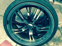 Set of summer tires with rims