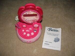 Barbie Hour Garden Talking Alarm Clock with AM/FM Radio