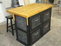 NEW HAND CRAFTED KITCHEN ISLAND