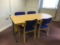Meeting room table & 4 chairs