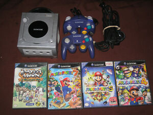 Gamecube system-2 Controllers & Mario Party 4,5,7, Harvest Moon