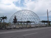 90' Geodesic Dome. Includes 40' shipping container