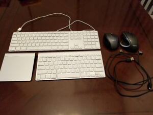 Apple Keyboards, Trackpad and Logitech Wireless Mouse for Sale