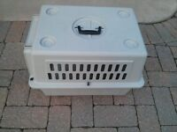 "Small (24""x 18""x 18"") dog crate/carrier"