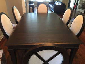 Table Dining Set - Ens. table a diner & buffet maison corbeil