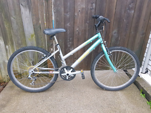 Silver 18 Speed Mountain bike with Lock and Gloves